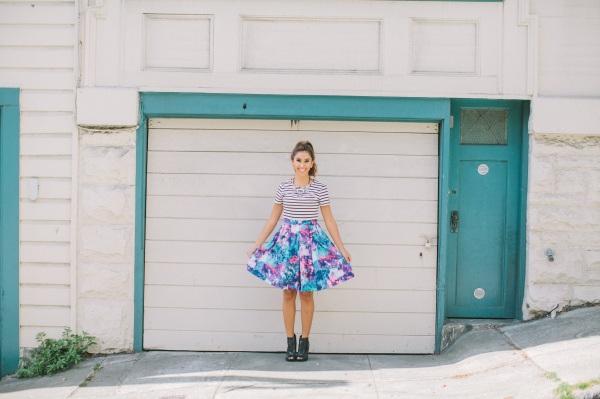 stripe and skirt