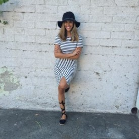 hat striped 2